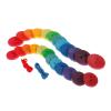 Botones de madera grandes arcoíris