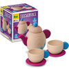 Set de té de madera 6pz