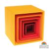 Cajas apilables Grimm's gama rojo, 5 pz