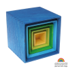 Cajas apilables Grimm's gama azul, 5 pz