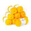 Lana 2 hebras, 50grs color amarillo 10 ovillos