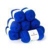 Lana 2 hebras, 50grs color azul rey 10 ovillos