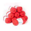 Lana 2 hebras, 50grs color coral 10 ovillos