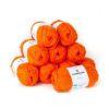 Lana 2 hebras, 50grs color naranjo 10 ovillos