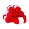 Lana 2 hebras, 50grs color rojo 10 ovillos