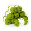 Lana 2 hebras, 50grs color verde pistacho 10 ovillos