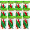 12 Bolsas de plumas diferentes colores