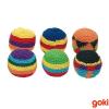 Set 6 pelotas tejidas crochet línea montessori