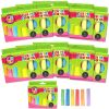 12 Cajas de tiza jumbo 6 colores