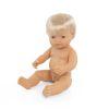 Muñeco europeo niño con pelo 38cm