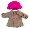 Conjunto 3pz chaqueta café para muñecos de 32cm