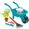 Carretilla y herramientas para jardinear