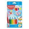 Lápices maxi 12 colores triangular