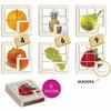 Puzzle foto frutas, set de 6