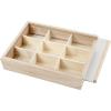 Caja exhibidora madera con tapa deslizable