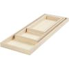 Set 3 bandejas rectangulares madera paulonia