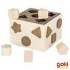 Caja encaje formas madera natural