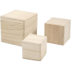 Set 3 cubos apilables madera paulonia