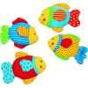 Set 4 sonajeros tela figura pez