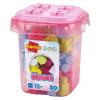 Caja rosa con bloques 50pz