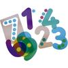 10 Siluetas de Números Traslúcidos
