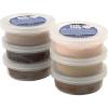 Pack 6 potes pasta de modelar colores carne, 14 gr.