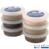 Pack 6 potes pasta de modelar Silk Clay®, colores carne
