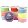Pack 10 potes pasta de modelar Silk Clay®, colores surtidos