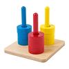 Base 3 Astas verticales con aros de colores