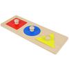 Encaje triángulo, círculo, cuadrado Montessori