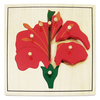 Puzzle Montessori Flor 8pz