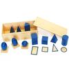 Sólidos Geométricos Montessori en caja