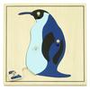 Puzzle Montessori Pingüino 4pz