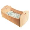 Cuna balancín de madera + ropita de cama