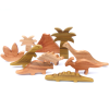 Set dinosaurios 10pz, serie madera nativa