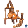 Set 36 ecobloques de madera con corteza Magic Wood