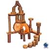 Set 36 ecobloques de madera con corteza Magic Wood