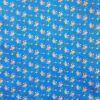 Paño lenci estampado flores fondo azul 10 pliegos 40x60cm