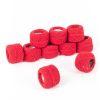 Hilo para bordar color rojo 10grs 10 ovillos