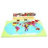 Mapamundi con Banderas Montessori