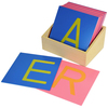 Caja letras de lija mayúsculas Montessori