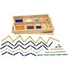 Cadenas cortas de perlas Montessori en caja