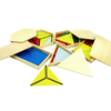 Set 5 cajas triángulos constructivos Montessori