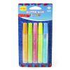 Set 5 lápices glitter glue pastel, 5 colores