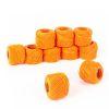 Hilo para bordar color naranjo 10grs 10 ovillos