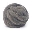 Lana oveja cardada vellón color gris teñido de 100grs