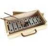 Metalófono 8 notas, caja de madera