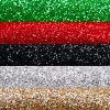 Set de organza glitter 5 colores