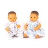 Pareja de muñecos asiáticos 42cm con ropa 5pz