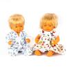 Pareja de muñecos europeos 38cm con ropa 5pz